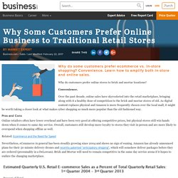 Why Some Customers Prefer Online Business to Traditional Retail Stores