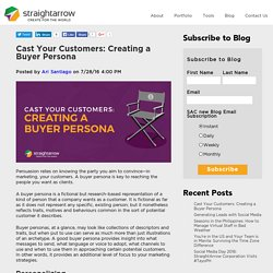 Cast Your Customers: Creating a Buyer Persona