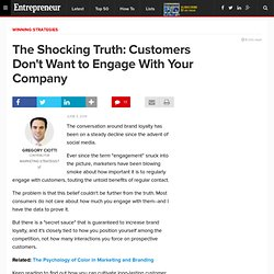 The Shocking Truth: Customers Don't Want to Engage With Your Company