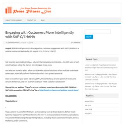 Engaging with Customers More Intelligently with SAP C/4HANA