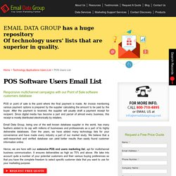 POS Users List : Point Of Sale Customers Email & Mailing Addresses
