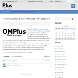 More Customers Select Managed Print Software
