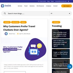 Why Customers Prefer Travel Chatbots?