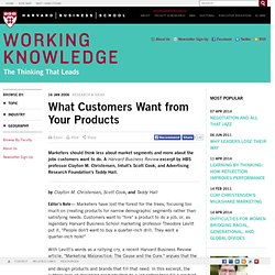 What Customers Want from Your Products