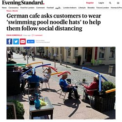 German cafe asks customers to wear 'swimming pool noodle hats' to help them follow social distancing