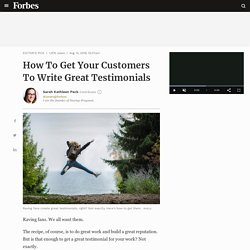 How To Get Your Customers To Write Great Testimonials