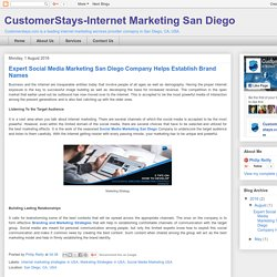 CustomerStays-Internet Marketing San Diego: Expert Social Media Marketing San Diego Company Helps Establish Brand Names