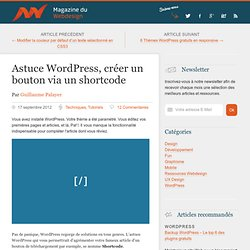 Créer un bouton customisable via un shortcode WordPress