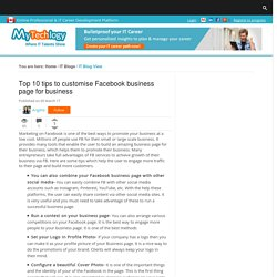 Top 10 tips to customise Facebook business page for business