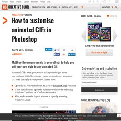 How to customise animated GIFs in Photoshop