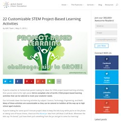 22 Customizable STEM Project-Based Learning Activities