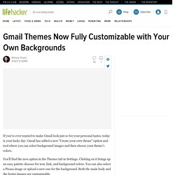 Gmail Themes Now Fully Customizable with Your Own Backgrounds