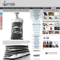 Customizable Clothing: Unique 120-Zipper Dress Design | Designs &Ideas on Dornob - StumbleUpon
