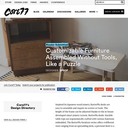Customizable Furniture Assembled Without Tools, Like a Puzzle