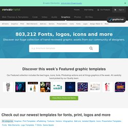 Design Templates - Fonts - Logo - Icons | Customizable | GraphicRiver