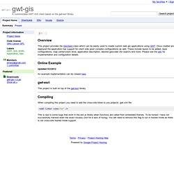 gwt-gis - A customizable GWT GIS client based on the gwt-esri library.