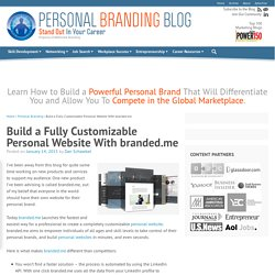 Build a Fully Customizable Personal Website With branded.me