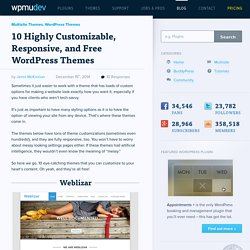 10 Highly Customizable, Responsive, and Free WordPress Themes