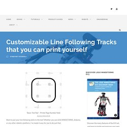 Customizable Line Following Tracks that you can print yourself – Robotsquare