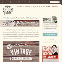 8 Free Customizable Vector Vintage Style Logo Designs