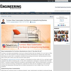 Furniture: Mass Customization Can Boost Up Underperforming Business