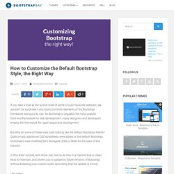 How to Customize the Default Bootstrap Style, the Right Way - BootstrapBay