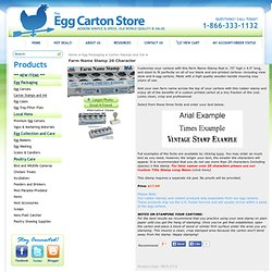 Customize your egg cartons with this Farm Name Stamp