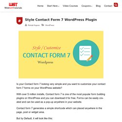 how to style / customize contact form 7 forms in WordPress