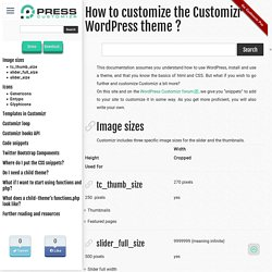 How to customize the Customizr WordPress theme ?