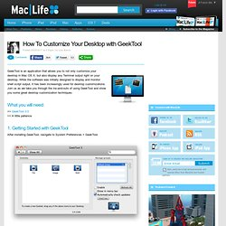 How To Customize Your Desktop with GeekTool