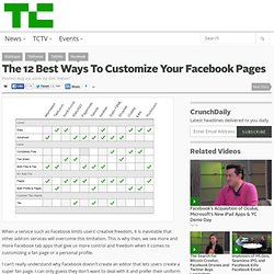 The 12 Best Ways To Customize Your Facebook Pages