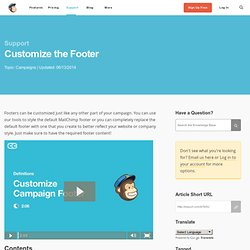 Customize the Footer