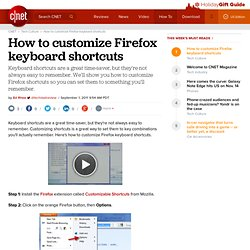 How to customize Firefox keyboard shortcuts