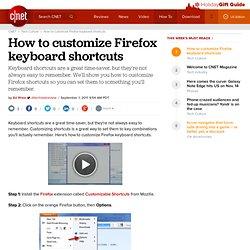 How to customize Firefox keyboard shortcuts