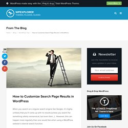 How to Customize Search Page Results in WordPress