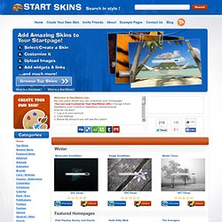 StartSkins.com - Customize Your Google Homepage / Startpage