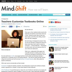 Teachers Customize Textbooks Online