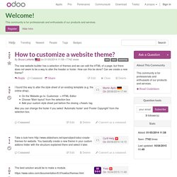 How to customize a website theme?