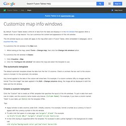 Customize map info windows - Fusion Tables Help