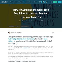 Mastering The WordPress Visual Editor
