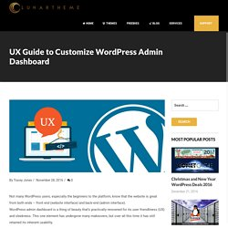 UX Guide to Customize WordPress Admin Dashboard - Lunartheme - Wordpress Theme, Free HTML