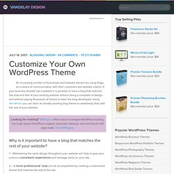 Customize Your Own WordPress Theme