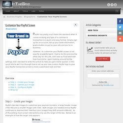 Customize Your PayPal Screen - Life in the Grid