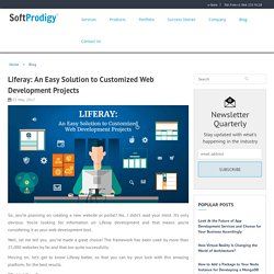Liferay- A Solution to Customized Web Development Projects