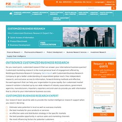 Outsource customized business research