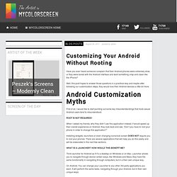 Customizing Your Android Without Rooting - MyColorscreen Blog