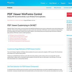 PDF Viewer C# API for Customizing PDF Viewer control in C# Windows Forms Applications
