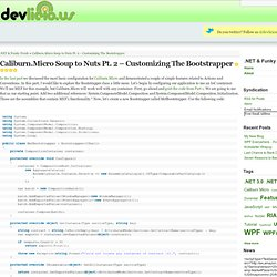 Caliburn.Micro Soup to Nuts Pt. 2 – Customizing The Bootstrapper
