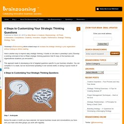 4 Steps to Customizing Your Strategic Thinking Questions