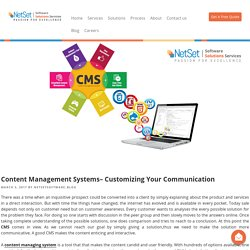 Content Management Systems– Customizing Your Communication